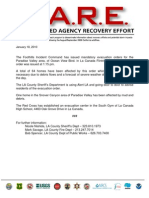 Mandatory Evacuation Advisory 1-18-10