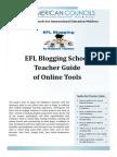 EFL Blogging School Teacher Guide