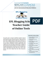EFL Blogging School Teacher Guide