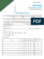 Bajaj Family Health Proposal Form