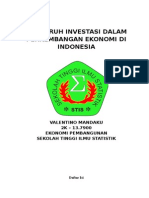 Marthen_Makalah Pengaruh Investasi Dalam Perkembangan Ekonomi Di Indonesia