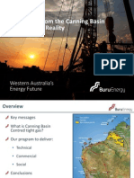 Presentation Tight Gas From the Canning Basin