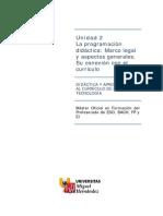 Programacion Didactiva CV