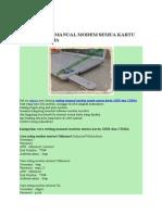 CARA SETING MANUAL MODEM SEMUA KARTU GSM DAN CDMA.docx