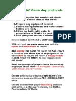 SRLFU Game Day Protocol