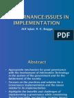Electronic Governance