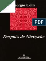 Después de Nietzsche