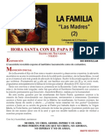 HORA SANTA CON EL  PAPA. La Familia