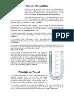 2012-2013 Problemas Hidrostática 4º Eso