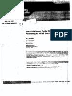 Interpretation of Finite Element Stresses According to ASME Section III