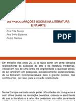 As Preocupações Socias Na Literatura e Na Arte