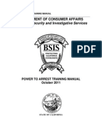 power to arrest training manual