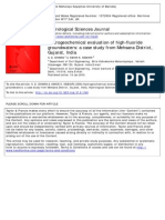Hydrogeochemical evaluation of high-fluoride groundwaters