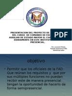 Programa Del Comando de Escuadron y Auxiliar de Estado Mayor Semiasistencial