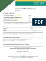 Matriz Level 2 Booking Form Aug 2014