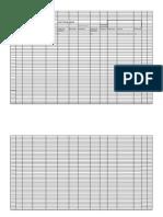 Asset Tracking Logsheet
