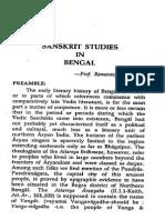 Sanskrit Studies in Bengal