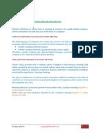 Procedure for Calling Statutory Meeting