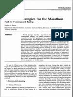 Burke (2007) Nutritional Strategies for the Marathon