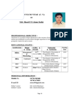 CV (Resume) & Enclosed Photo
