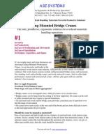 Ceiling Mounted Bridge Cranes