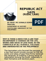 RA 1425 (Rizal Law)