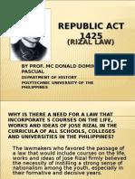 RA 1425 (Rizal Law)