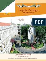 Prospecuts2014-2015 Loyola College Chennai