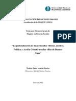PABLO MARTIN GIURLEO Tesis de Maestria_La Judicializiación de Las Demandas Villeras