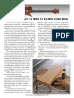 Making a Guitar Body