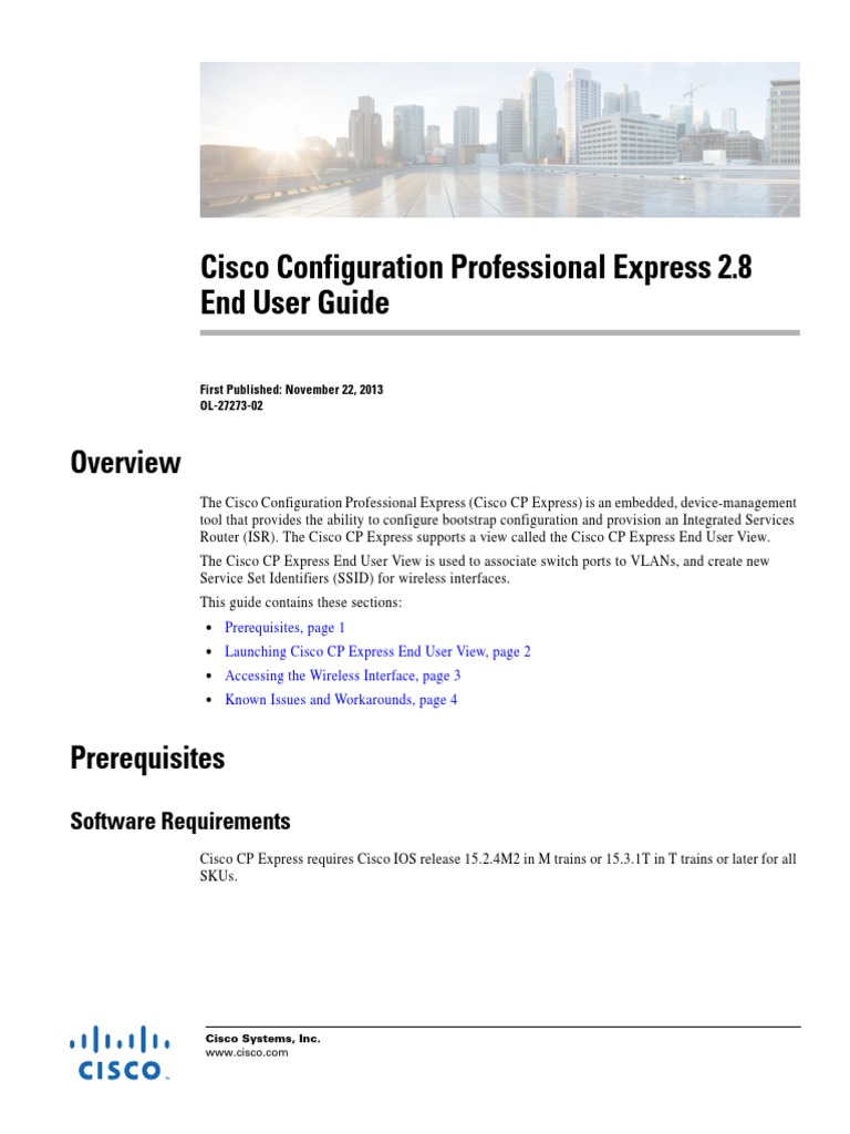 Cisco Configuration Professional Express 2.8 End User Guide | Web Browser |  Wireless Access Point