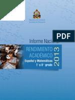 Rendimiento Academico en Honduras