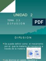 Unidad 2 Difusion