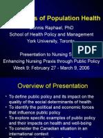 Politics of Population Health