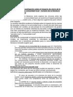 Evidencia de la investigación sobre el impacto de cierre de la escuela rural en la comunidad (Español)