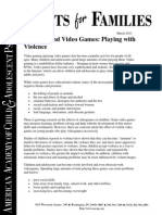 91 children and video games playing with violence