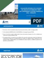 Evaluación Integral de La Calidad Del Agua Sistema Hidráulico - Chili