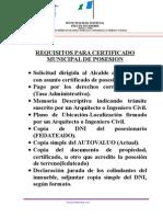 Requisitos Para Certificado Municipal de Posesion Grande