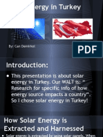 solar energy in turkey