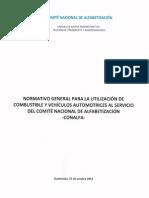 Normativo Para La Utilización de Combustible y Vehículos 2014