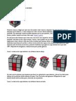 Resolucion de Un Cubo Rubik