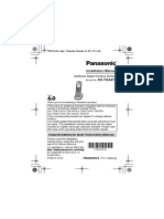 Panasonic Kx-tga100n Cordless Telephone User Manual