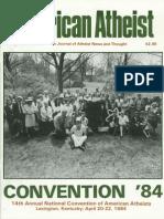 American Atheist Magazine Aug 1984