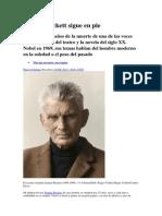 Samuel Beckett Sigue en Pie