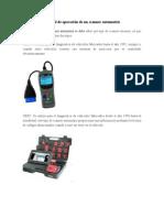 Manual de Operación de Un Scanner Automotriz