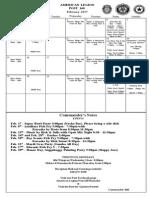 American Legion Calendar February 2015