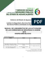 Manual de lineamientos de las actividades de las comisiones de seguridad e higiene.