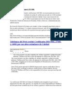 Telefónica Del Perú Consigue La ISO 9001.1