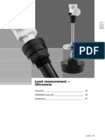Level Measurement – Ultrasonično