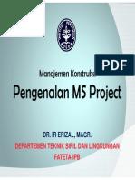 Pengenalan MS Project